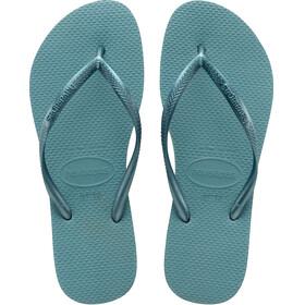 havaianas Slim Flips Women Mineral Blue